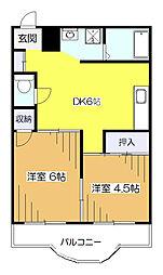 セザール麻美[3階]の間取り