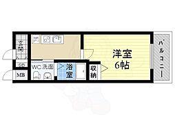 阪急伊丹線 稲野駅 徒歩1分の賃貸マンション 1階1Kの間取り