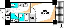PLUSGRAND新神戸 1階1Kの間取り