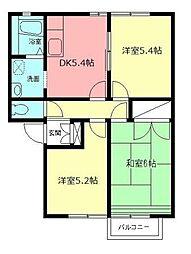 JR御殿場線 国府津駅 徒歩25分の賃貸アパート 1階3DKの間取り