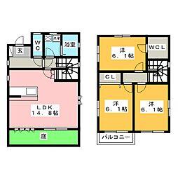 [一戸建] 愛知県稲沢市長野2丁目 の賃貸【愛知県 / 稲沢市】の間取り
