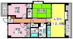 SOPHIA TOKUNAGA[3階]の間取り
