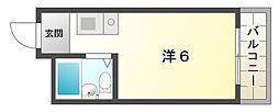 エムロード日吉[6階]の間取り