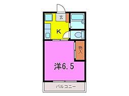 大府市 コーポ井村A[0302号室]の間取り
