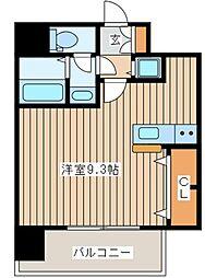 I Cube恵美須[8階]の間取り