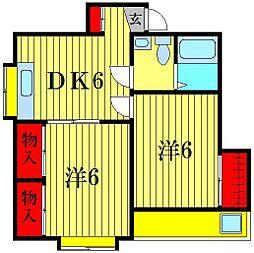 ハイツ サンクレール[2階]の間取り