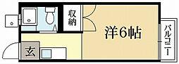 京都府京都市左京区浄土寺真如町の賃貸アパートの間取り