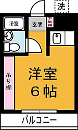 東光コーポ[206号室]の間取り