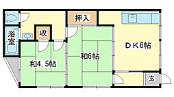 増田アパート[2階]の間取り