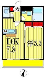 金太郎ヒルズ215[6階]の間取り