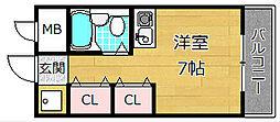 ツインビルA棟[4階]の間取り