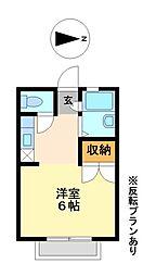 レオパレスサンライト壱番館[2階]の間取り