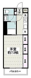 JR東海道本線 大船駅 徒歩15分の賃貸アパート 3階1Kの間取り