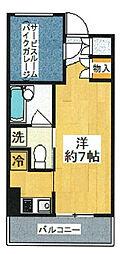 レグラス武蔵新城モーターガラージュ[3階]の間取り