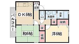 セジュールARAKI[103号室]の間取り