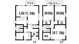 [一戸建] 兵庫県川西市大和東1丁目 の賃貸【/】の間取り