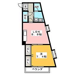 タウンコートNTK[2階]の間取り