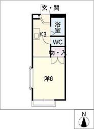 ダイヤモンドハウス[1階]の間取り