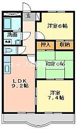 岡山県倉敷市茶屋町の賃貸マンションの間取り