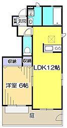 東京都国分寺市北町5丁目の賃貸アパートの間取り