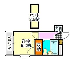 クレスト津田沼第01[2階]の間取り