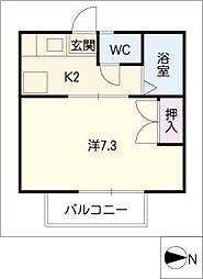 シングル小田原[1階]の間取り