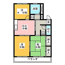 トヨチューハイツ[3階]の間取り