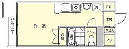 シャルマンローズ博多駅東[6階]の間取り