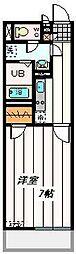 東武野田線 大宮公園駅 徒歩7分の賃貸マンション 3階1Kの間取り