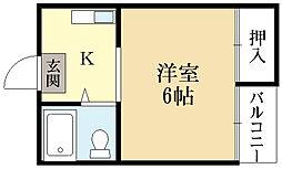 ヴィラ久津川[2階]の間取り