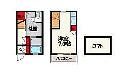 福岡県福岡市城南区別府3丁目の賃貸アパートの間取り
