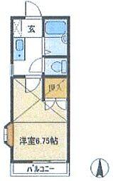 ロイヤルコーポTIU B棟[1階]の間取り