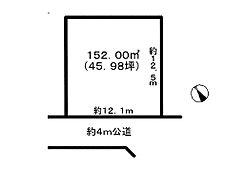 区画図です。敷地面積は約45坪ございます。