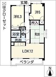 ピアネーズ神ノ倉B棟[2階]の間取り