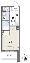 荒町賃貸住宅 4階1Kの間取り
