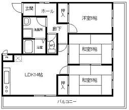 フェニックスパート2[3階]の間取り