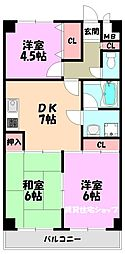アヴィタシオンDo・Y[3階]の間取り