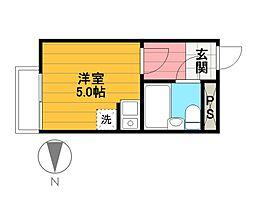 リナマンション[303号室]の間取り