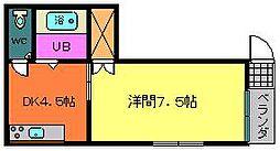 メゾンETO5[2階]の間取り