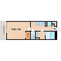 兵庫県尼崎市次屋1丁目の賃貸マンションの間取り