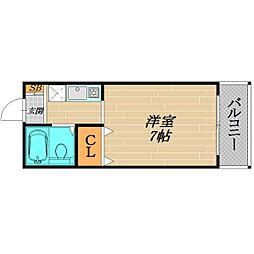 アインスNakamiya[3階]の間取り