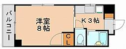 サニーピア竹下[7階]の間取り