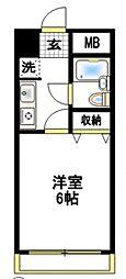エクセル豊田[3階]の間取り