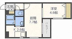 E−horizon麻生(旧:プライムコート麻生)[1階]の間取り