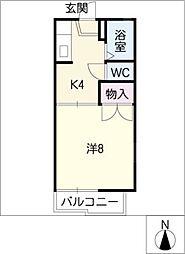 メゾンくすのき[2階]の間取り