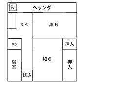 磯松マンション[102号室]の間取り