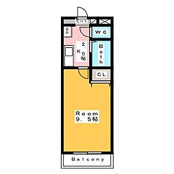 A・City東新町[5階]の間取り