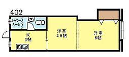 新大阪マンション[402号号室]の間取り