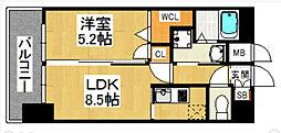 イルマーレ博多[2階]の間取り
