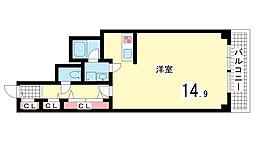 兵庫県神戸市中央区多聞通2町目の賃貸マンションの間取り